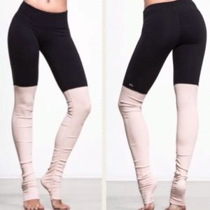 Alo Goddess High Waisted Ruched Ribbed Leggings
